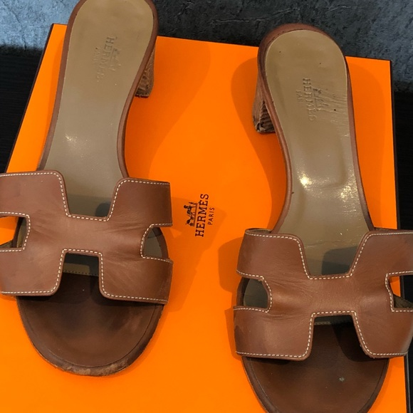 c065045eeae9 Hermes Shoes - Hermès Oran oasis sandal with heel size 37 gold